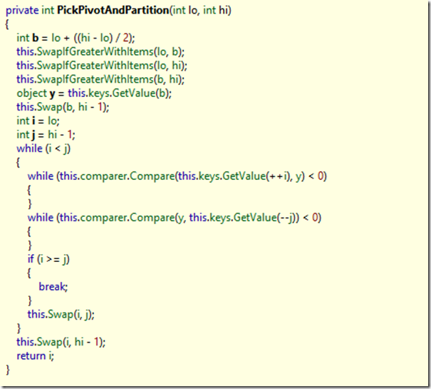 ArraySort implementation in .NET_5